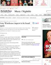 Amy Winehouse inquest to be heard again: Seattle Times